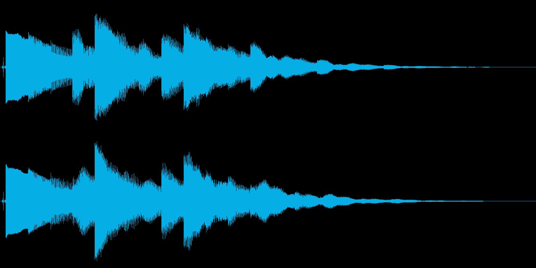 ベルの静かな場面転回音4の再生済みの波形