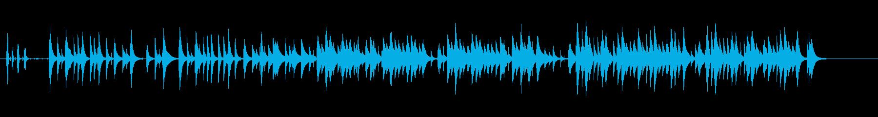 哀愁のある悲しい曲調のオルゴール曲の再生済みの波形
