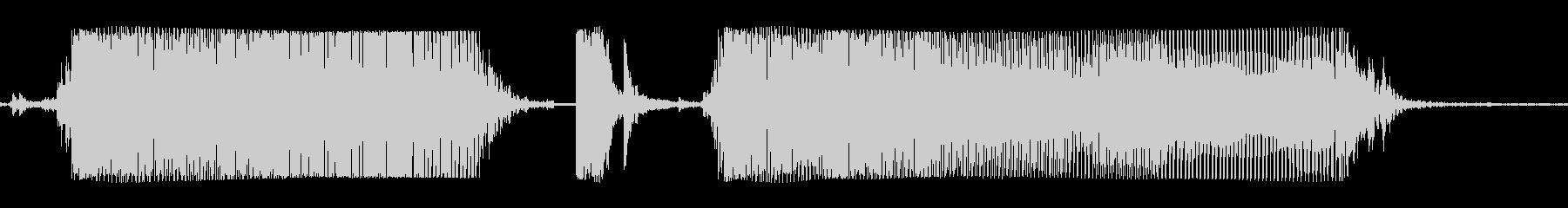 ギターメタルパワーコードZDの未再生の波形