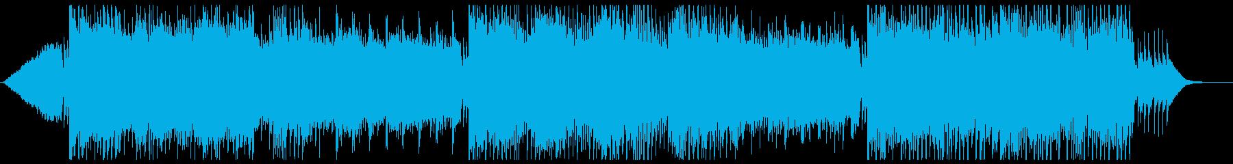琴と三味線の綺麗な和風曲の再生済みの波形