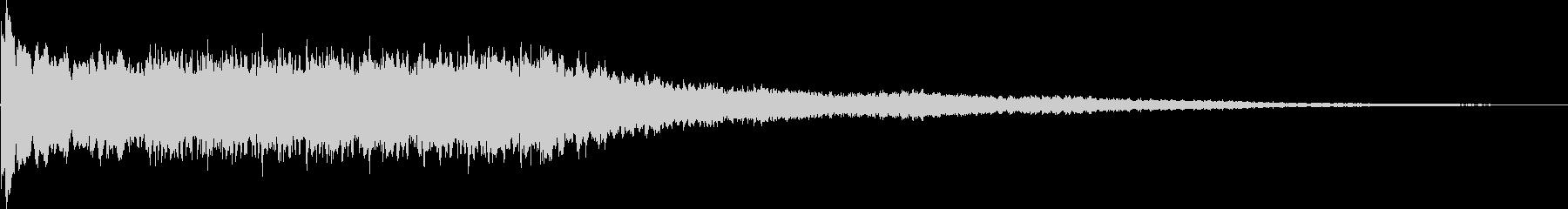パオンパオン 電子音系 サイレン音の未再生の波形