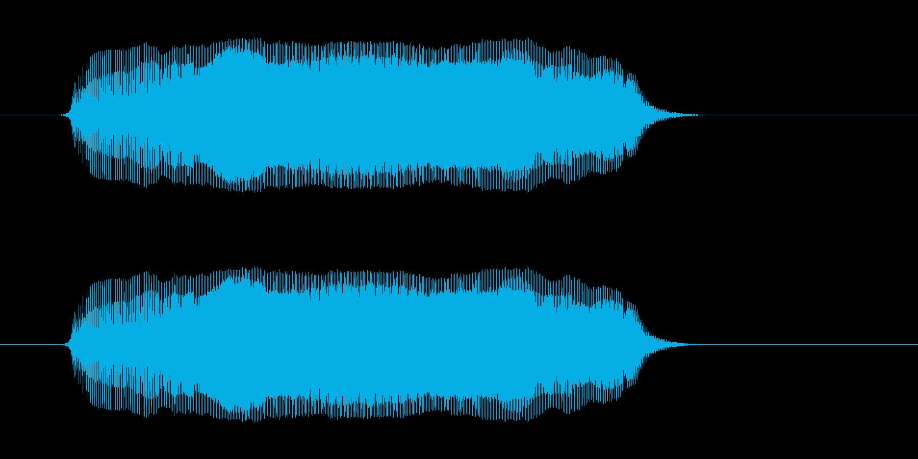 うー の再生済みの波形