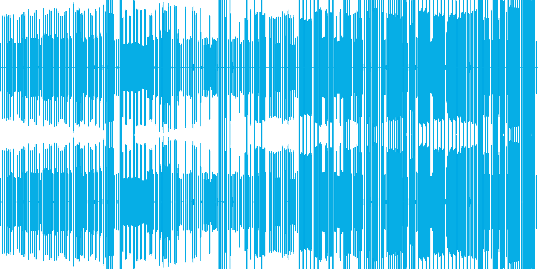 ピコピコ音のチップチューン ゲーム用の再生済みの波形
