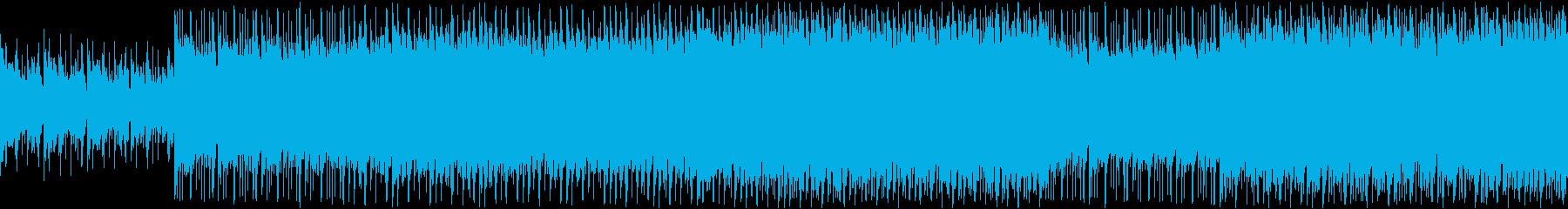 明るいキラキラトロピカルポップ ループの再生済みの波形