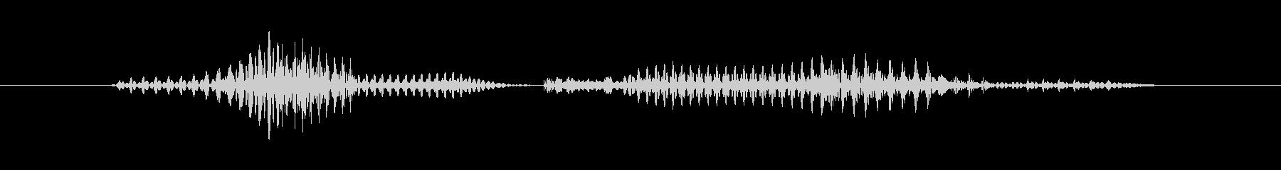 「1 PM」英語発音の未再生の波形