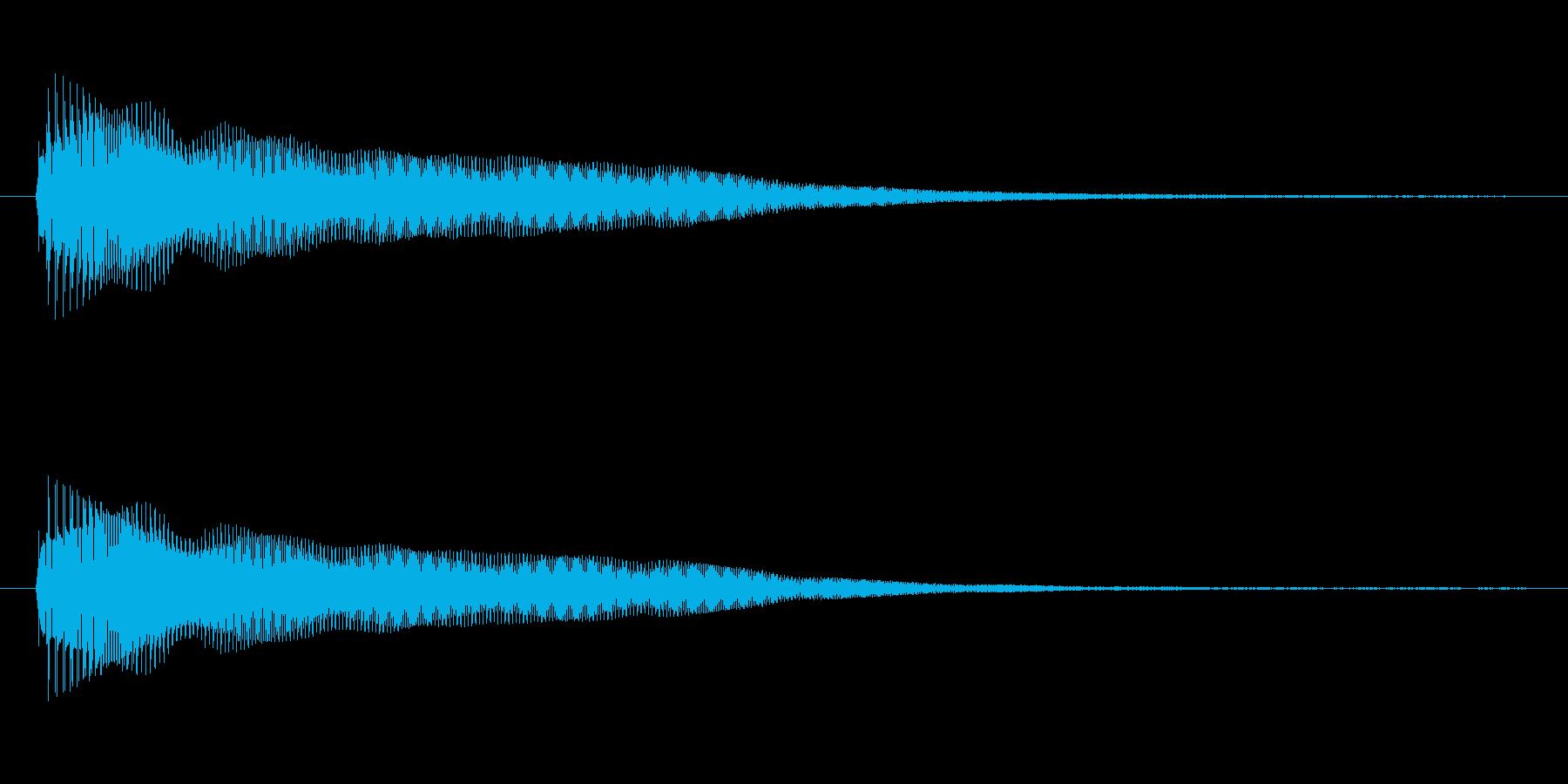 ピンッ。デジタル音。の再生済みの波形