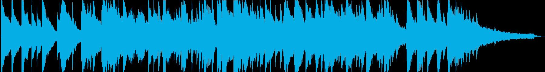 甘切ない雰囲気の約60秒のピアノ楽曲ですの再生済みの波形