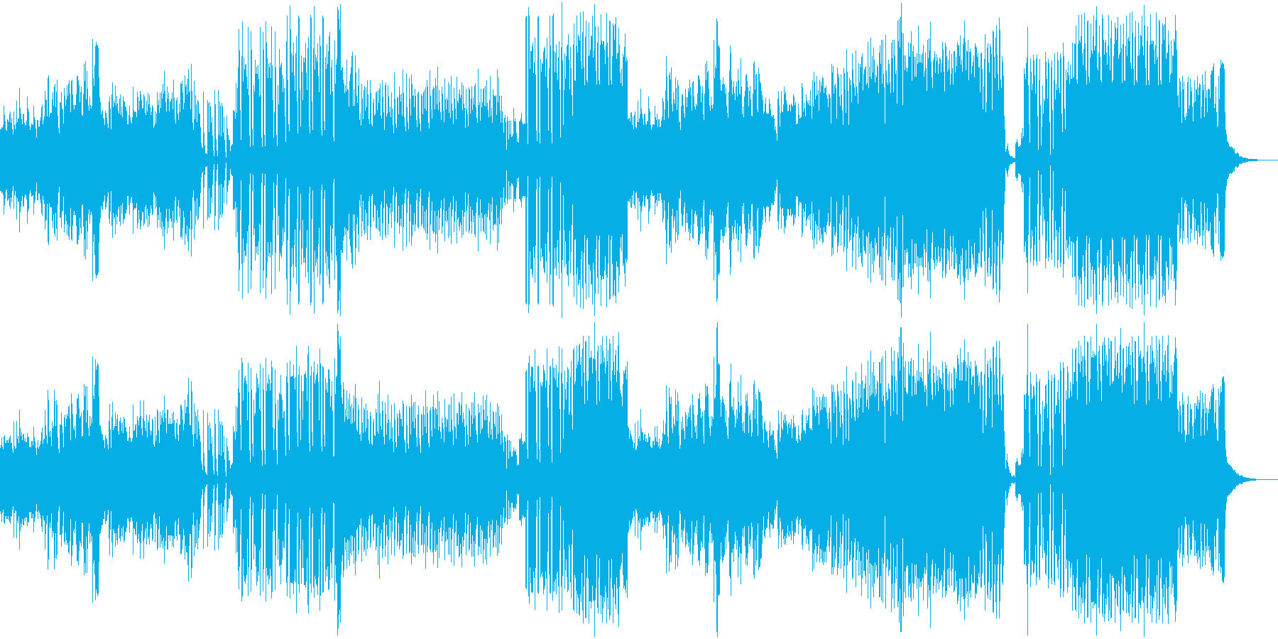イベント宣伝・EDMフェス風の可愛い曲の再生済みの波形