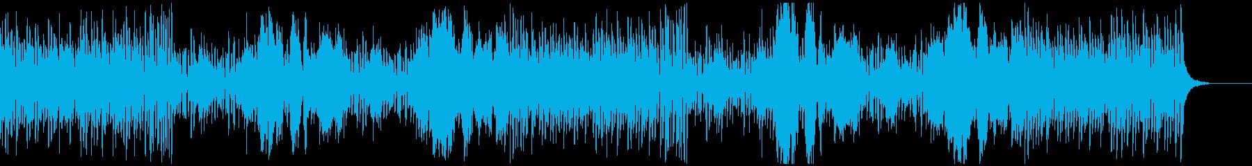 アップテンポで軽快な明るいオーケストラ曲の再生済みの波形