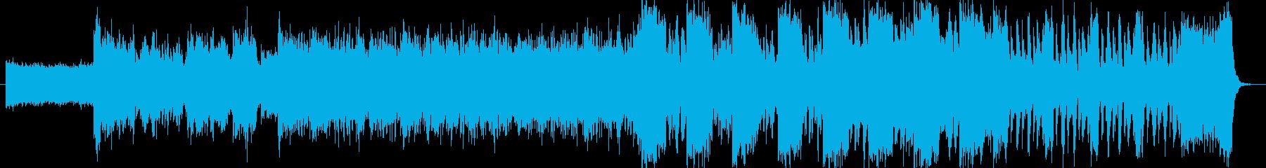 EDM系の緊迫した空気の曲(ギター入り)の再生済みの波形