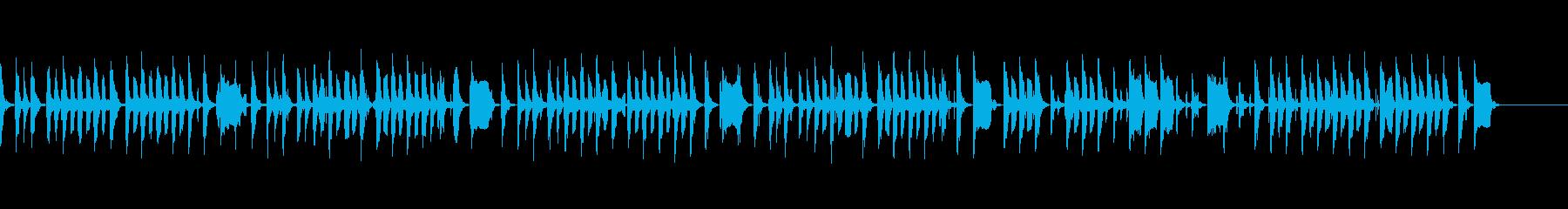 ほのぼのと滑稽なBGMの再生済みの波形