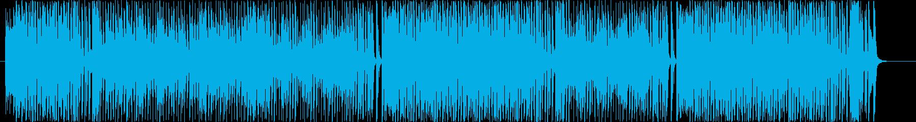番組オープニンング的な派手さ明るさの再生済みの波形