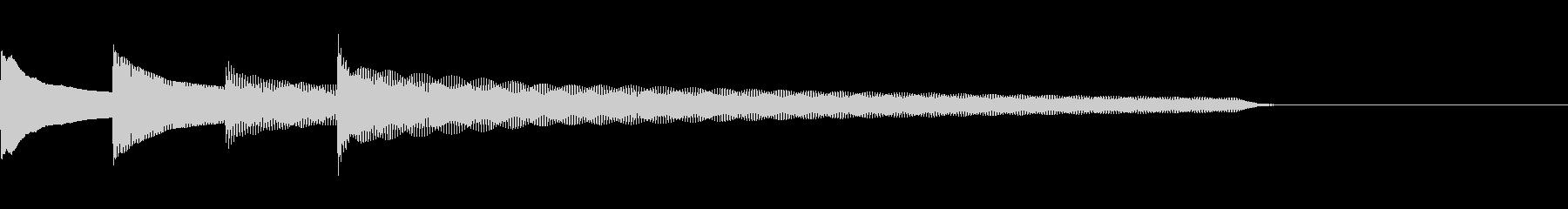 ピンポンパンポン下降チャイムF1の未再生の波形