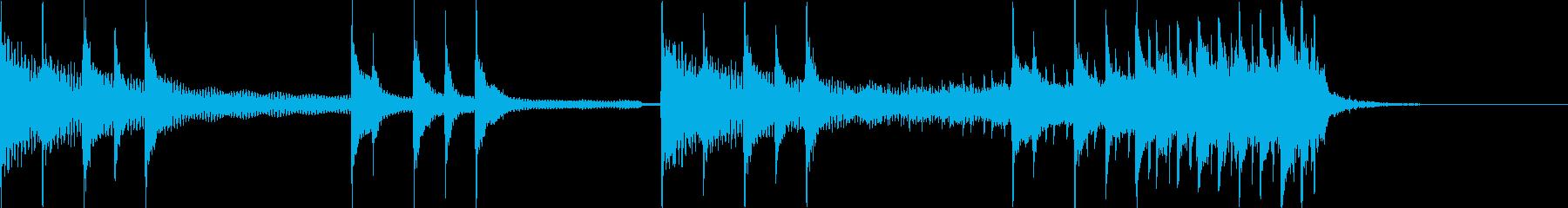 三味線+和太鼓+鼓 オープニングSEロゴの再生済みの波形