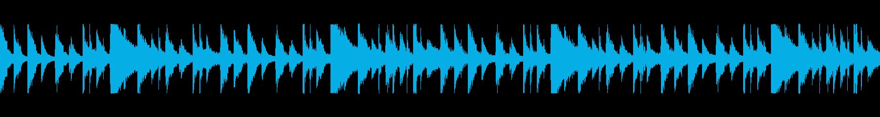 のんびり・民族楽器とドラムのループの再生済みの波形