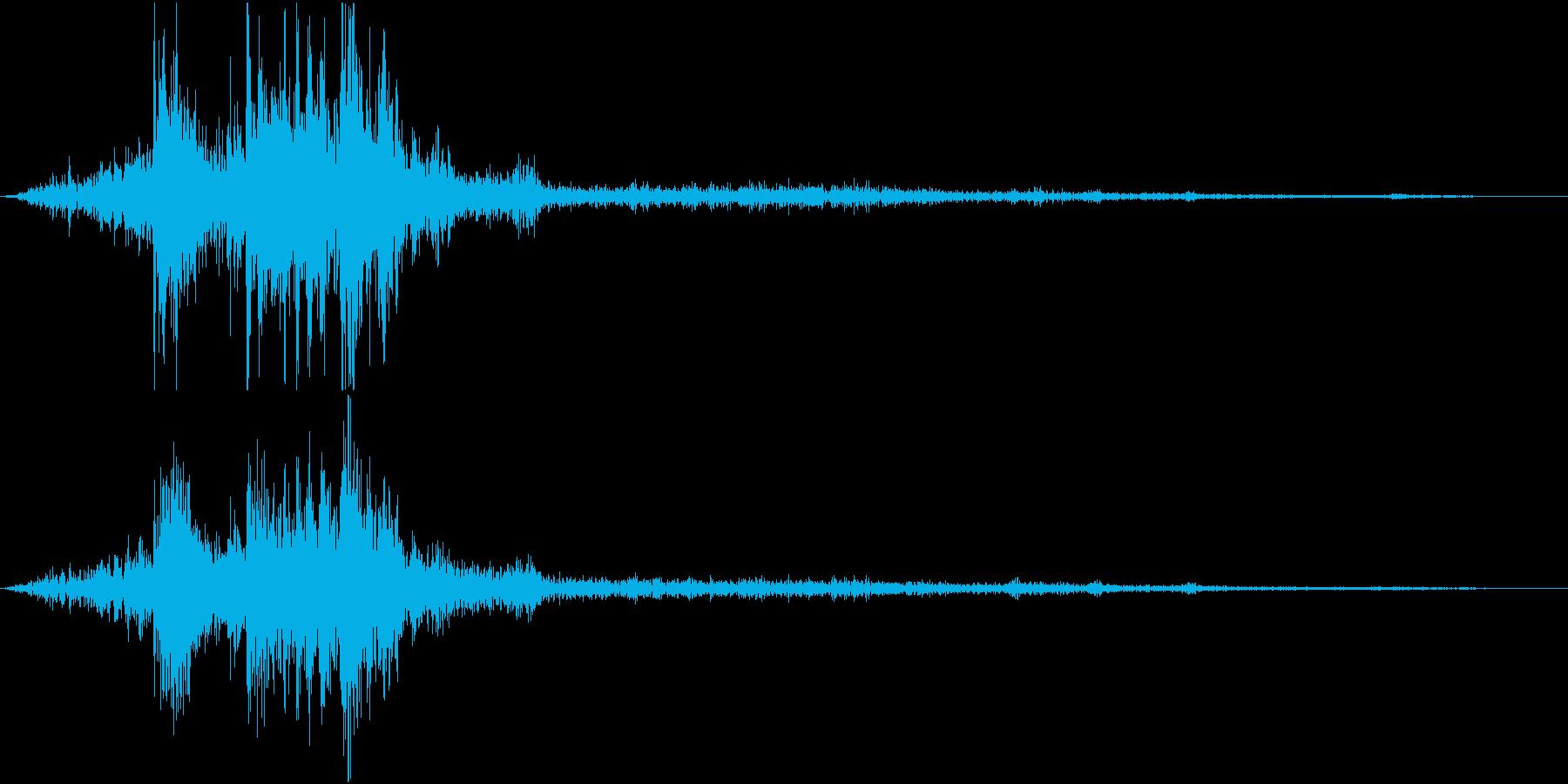 【自然音】カミナリ「ゴロゴロ」04の再生済みの波形