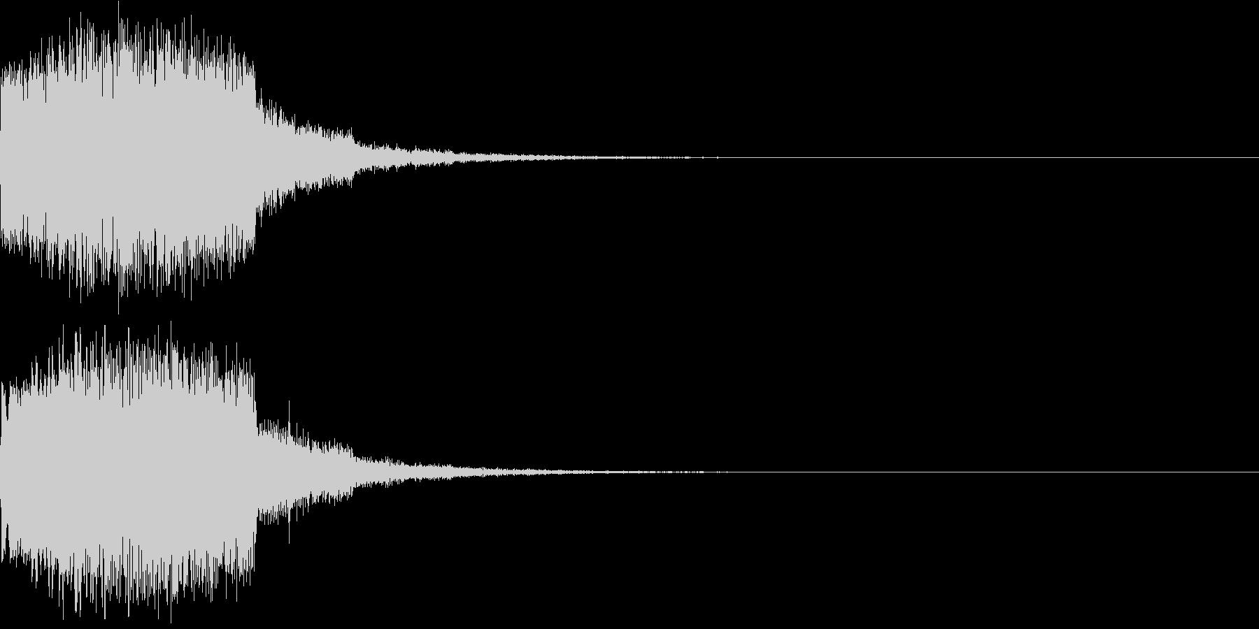 ギュイーン 重め ギューン 光る 028の未再生の波形