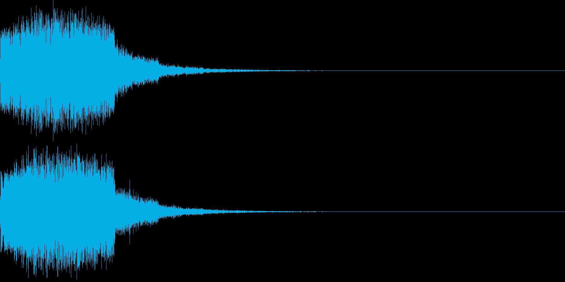 ギュイーン 重め ギューン 光る 028の再生済みの波形