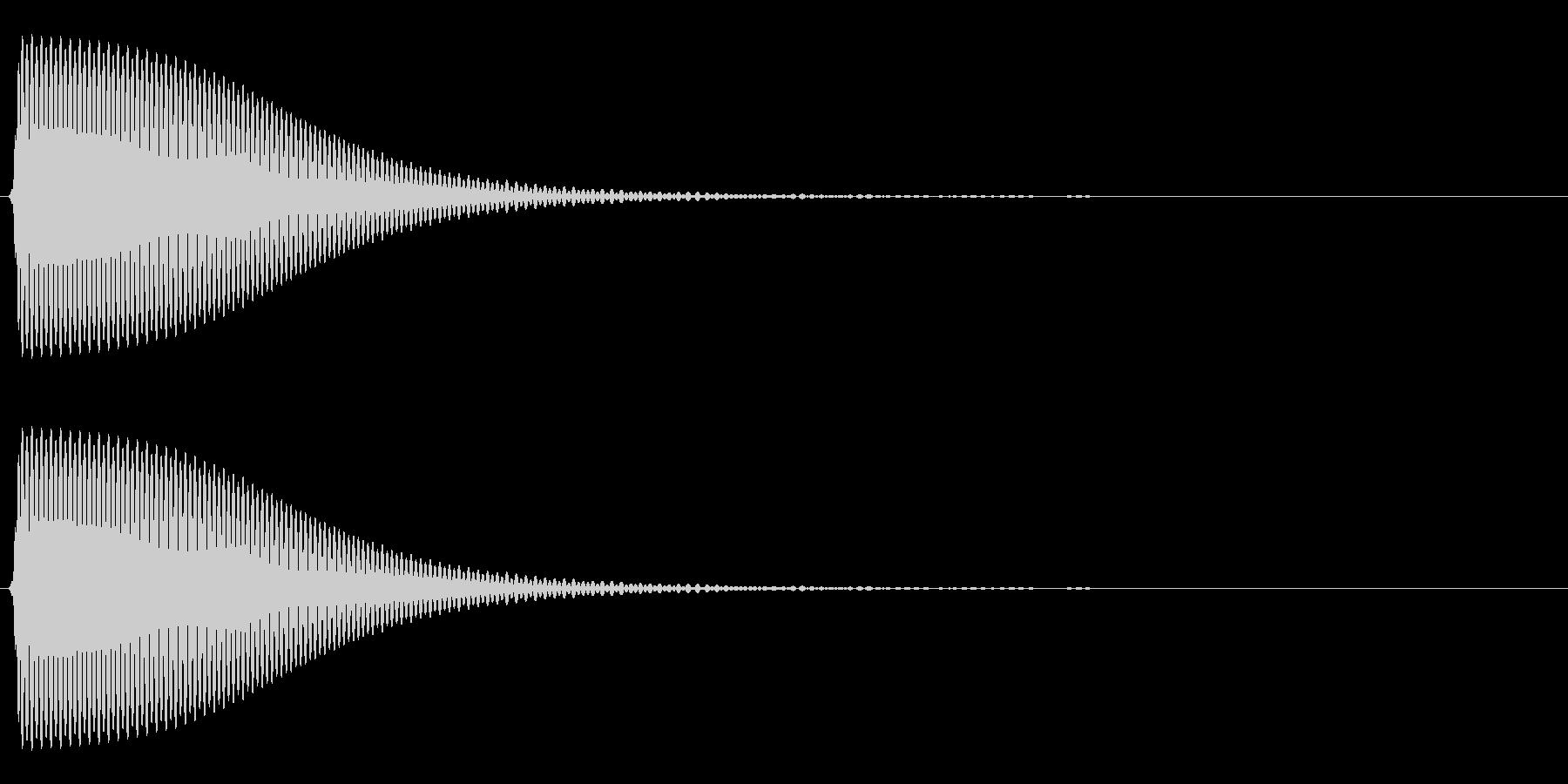 Com ファミコンなどのコマンド音 13の未再生の波形