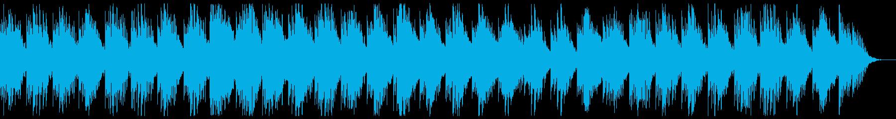 水面下に水が滴るイメージの楽曲の再生済みの波形