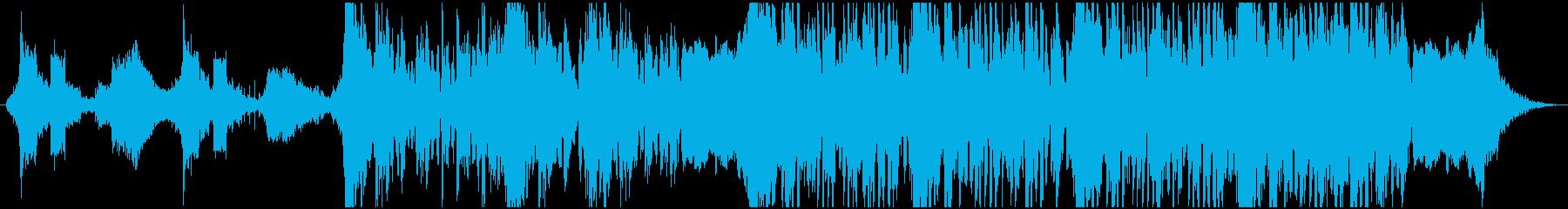 現代のハイブリッドSFトレーラーの再生済みの波形