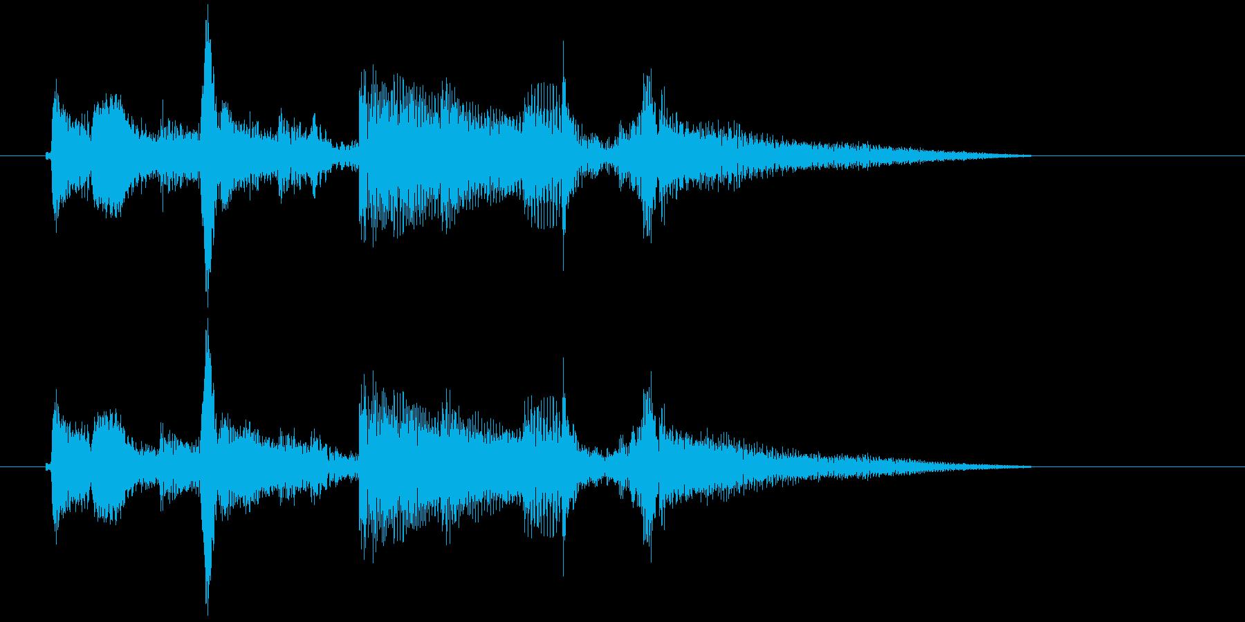 アコギ 微妙なアンニュイな 切り替えの再生済みの波形