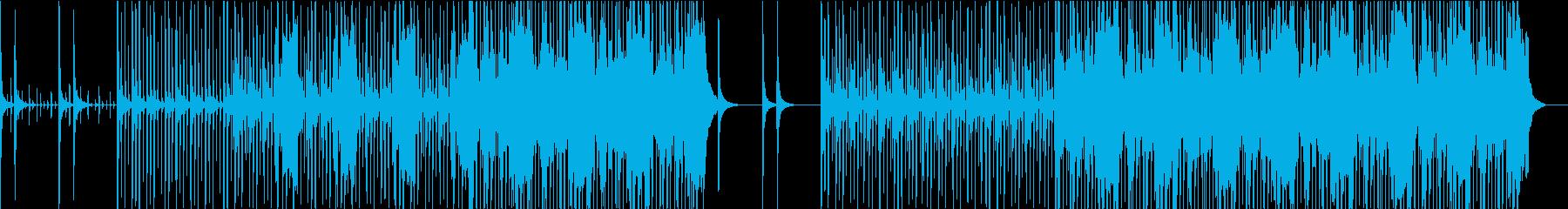 軽快なビートに切ない雰囲気のHIphopの再生済みの波形