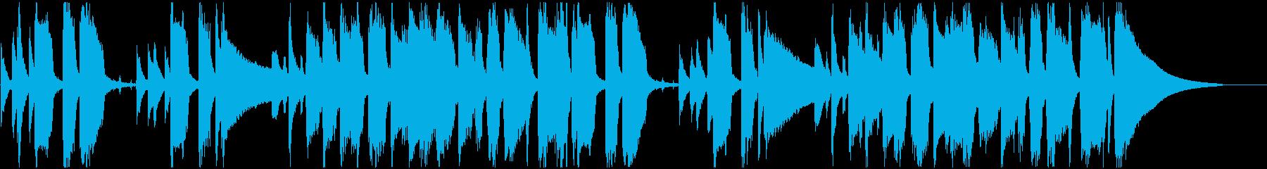 ハッピーで可愛らしいポップなサウンドロゴの再生済みの波形