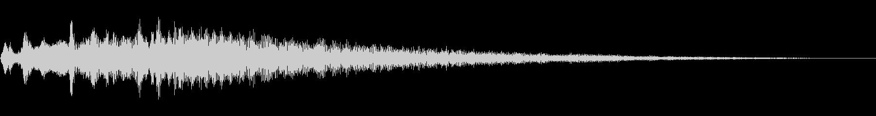 汎用的なキラキラ音の未再生の波形