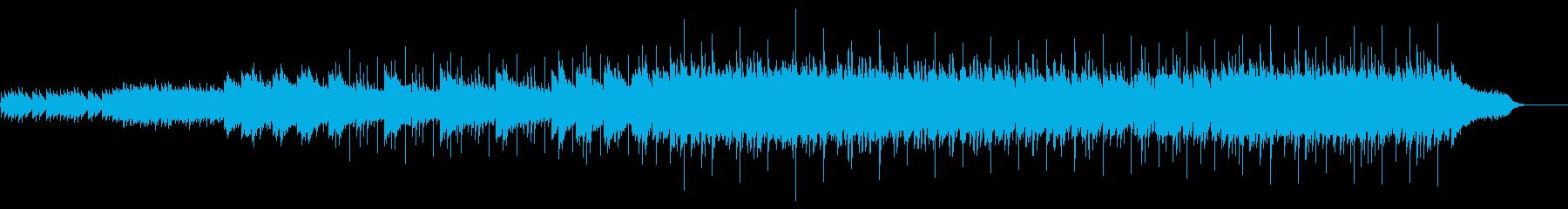 夜空に投影する様な清涼としたBGMの再生済みの波形