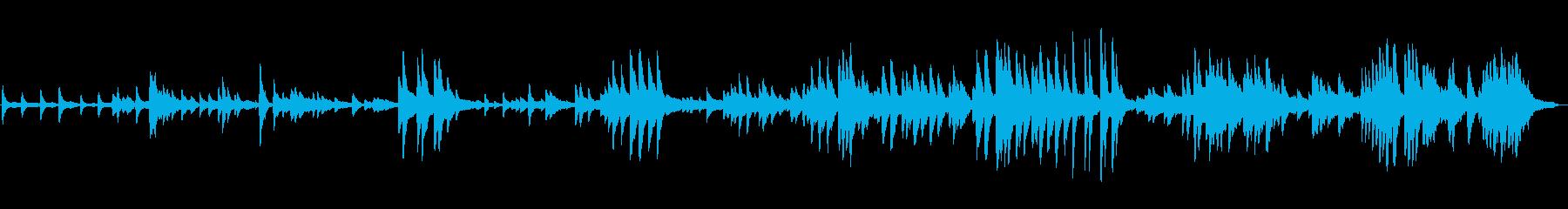 何かに抵抗している雰囲気のピアノ曲の再生済みの波形