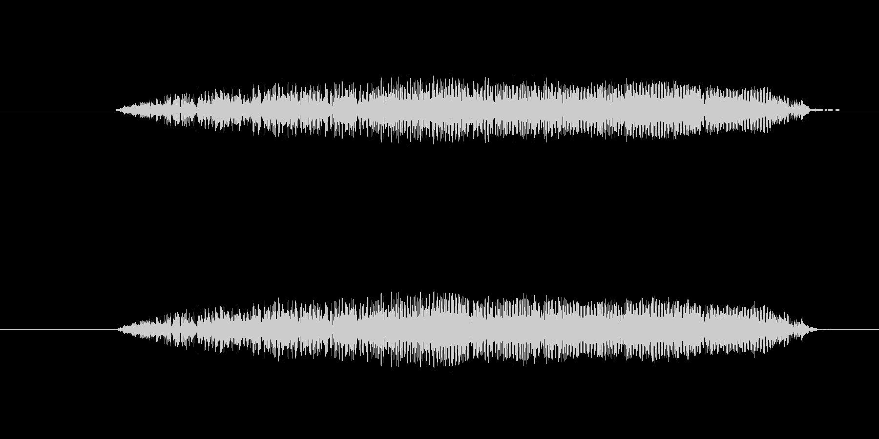 鳥 フクロウの叫び04の未再生の波形