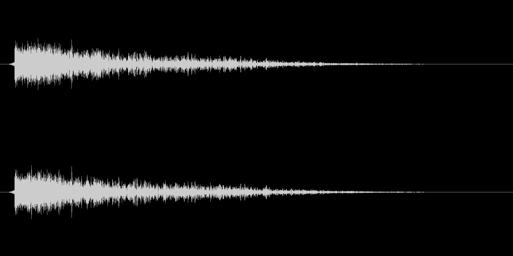 【衝撃07-2】の未再生の波形