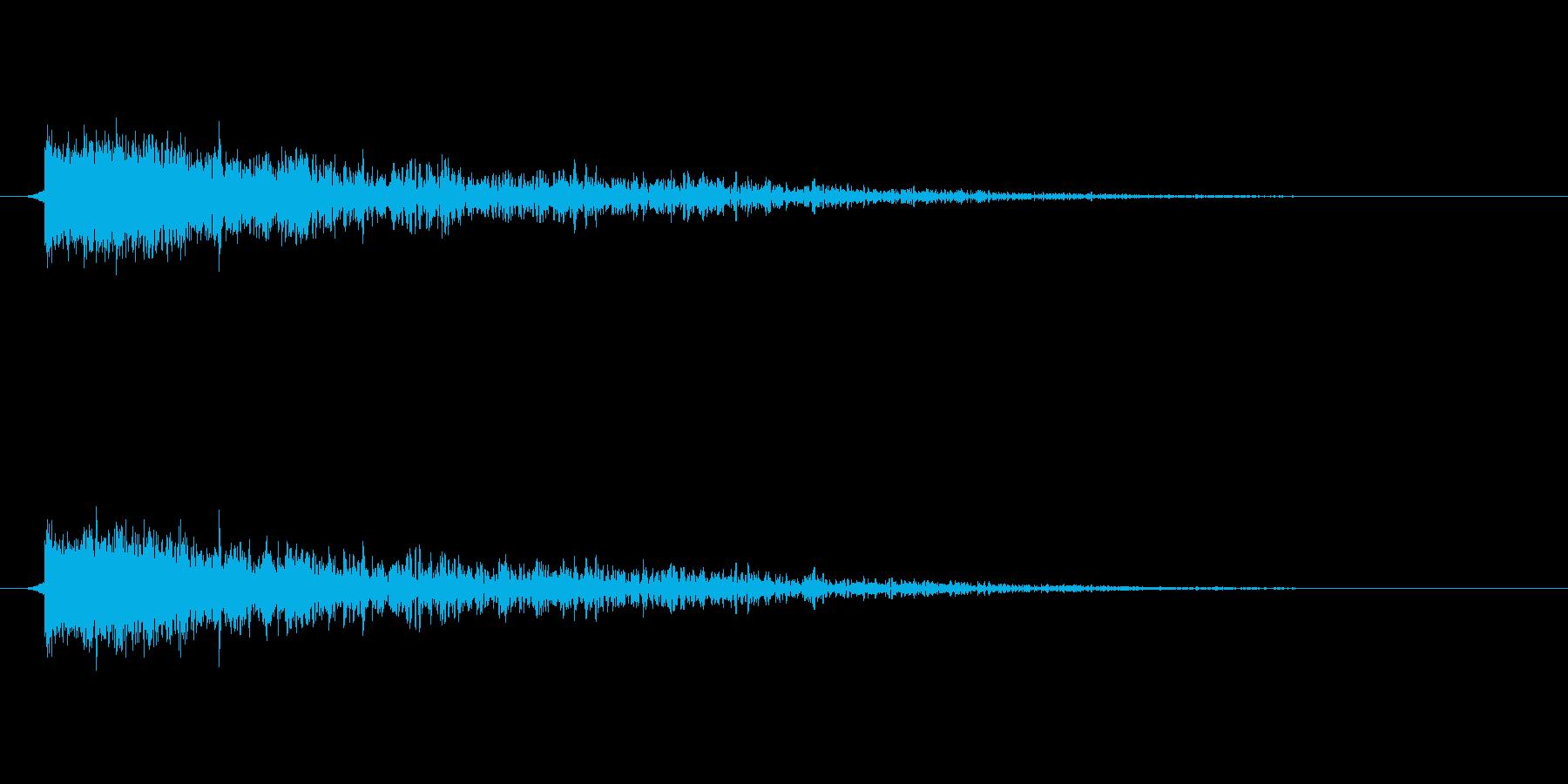 【衝撃07-2】の再生済みの波形
