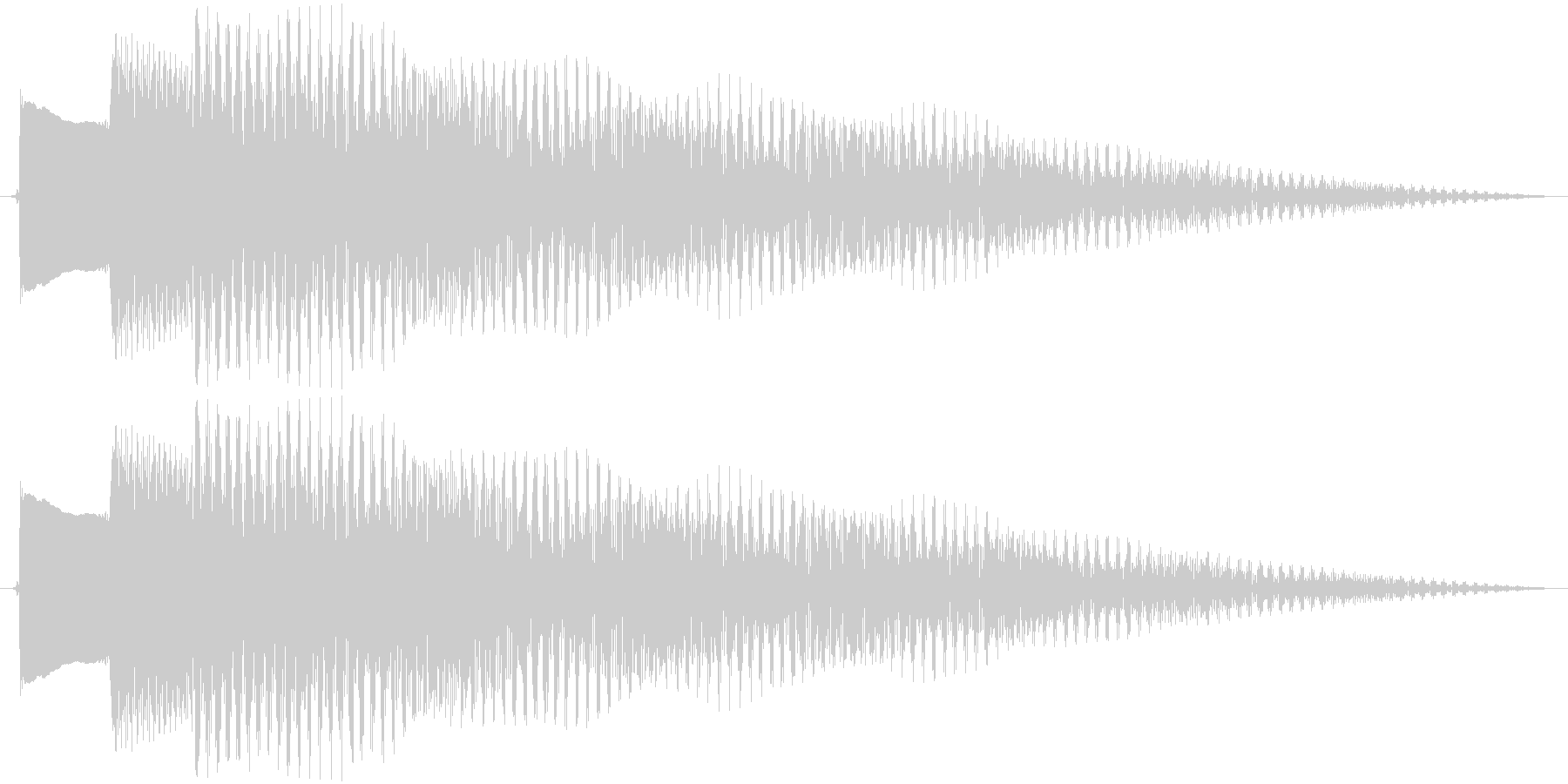 ジングル アルペジオギターBの未再生の波形