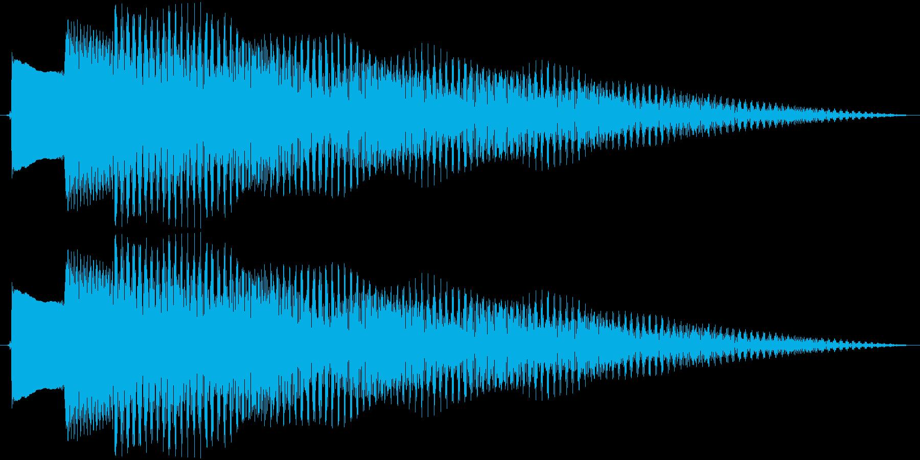 ジングル アルペジオギターBの再生済みの波形