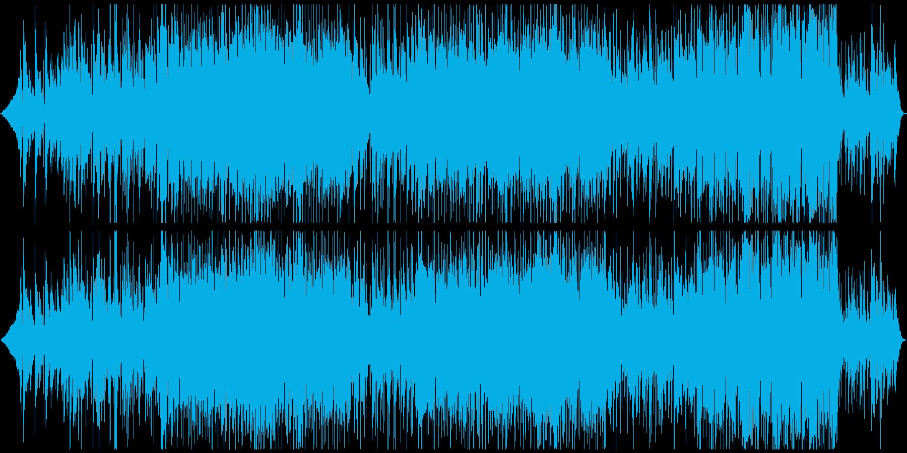 静かだけど強い思いを込めたバラードの再生済みの波形