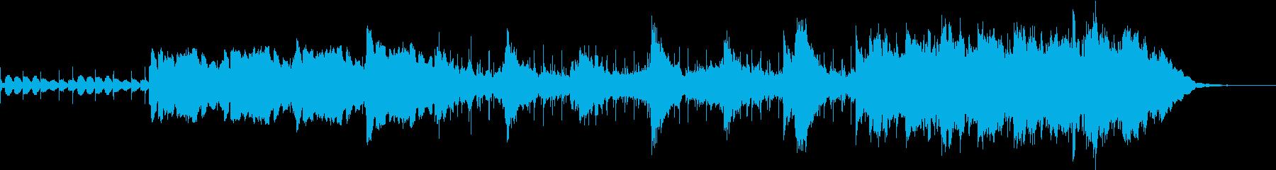マッサージ用の優しいドラムとシンセメロの再生済みの波形