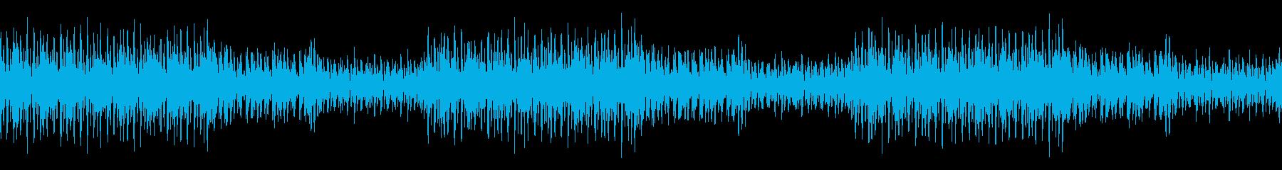 コミカルな怪しさのある軽快な曲の再生済みの波形