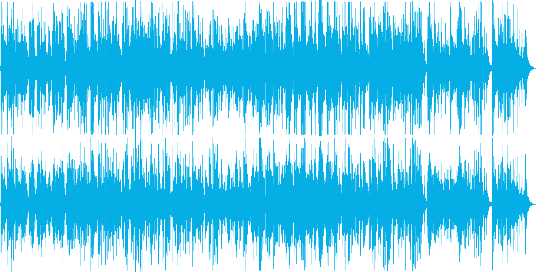 癒し系のバラードの再生済みの波形
