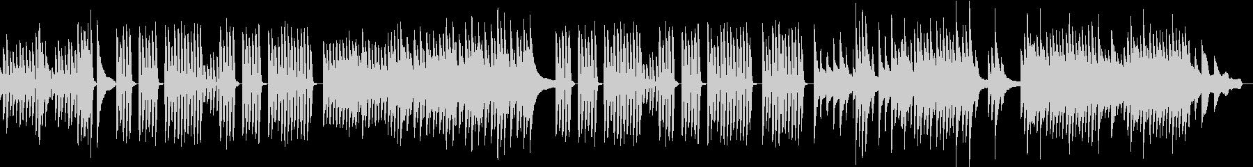 可愛らしくてほのぼのとしたピアノソロの未再生の波形