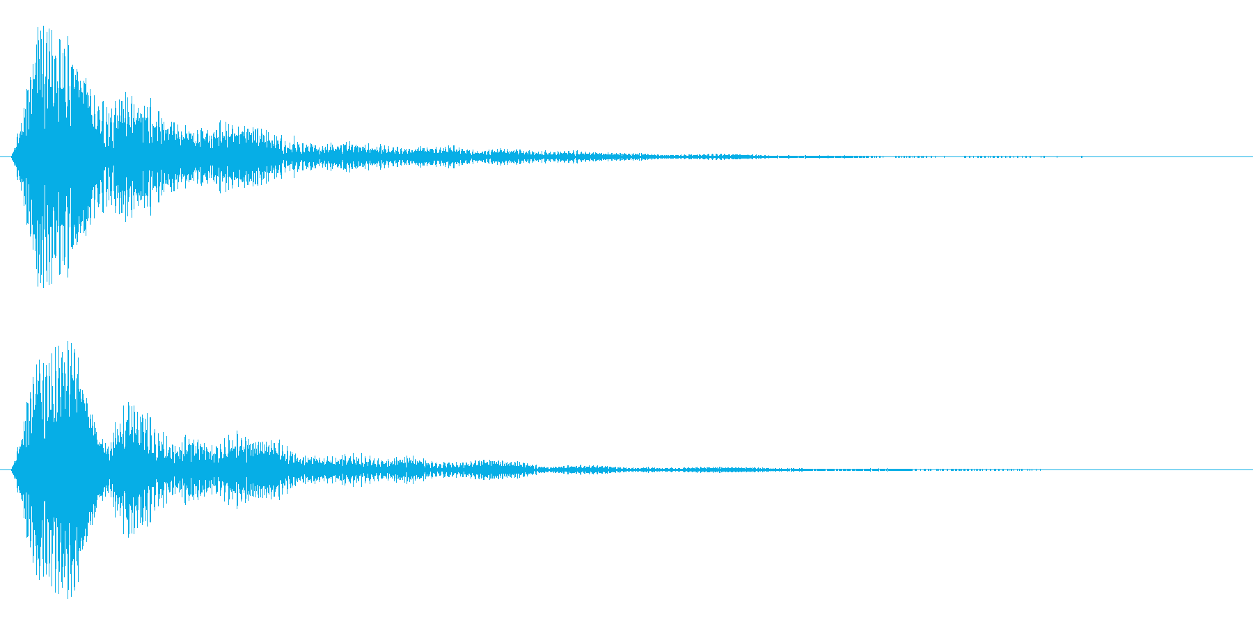 ボタンを押し決定した時の音ですの再生済みの波形