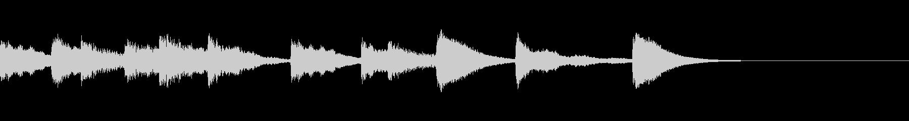 小さなおもちゃピアノの明るいワンフレーズの未再生の波形