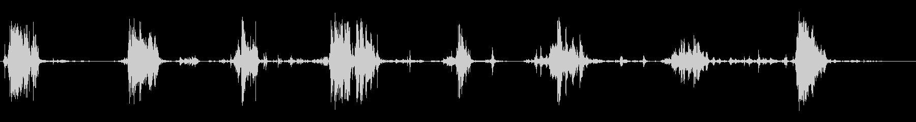 食べる音11(ポテトチップスなど)の未再生の波形