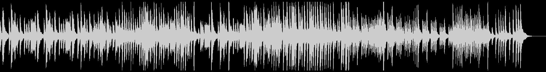 ピアノのクールなトラックの未再生の波形