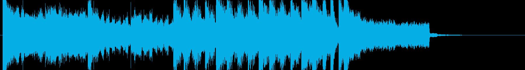 レトロなヒーローのオープニングジングルcの再生済みの波形