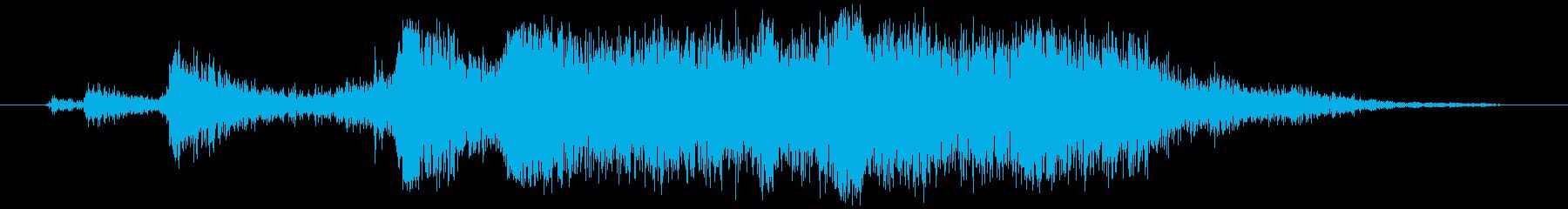 アルミホイル(刃で切る)カシャ+ビリッの再生済みの波形