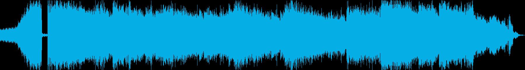 切ない爆音ギターのサウンドロゴの再生済みの波形