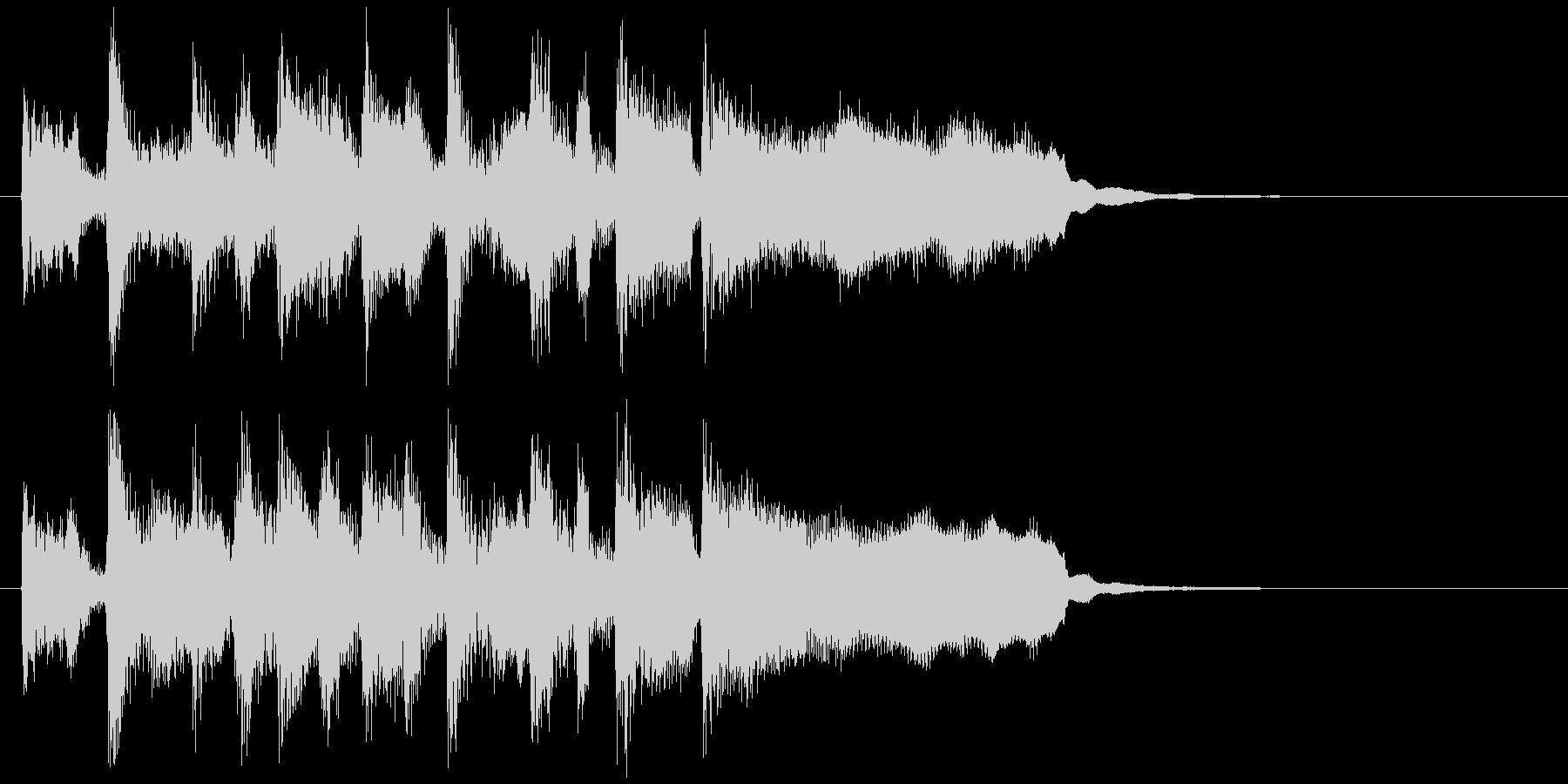 リコーダー&ブラスのステージクリアロゴの未再生の波形