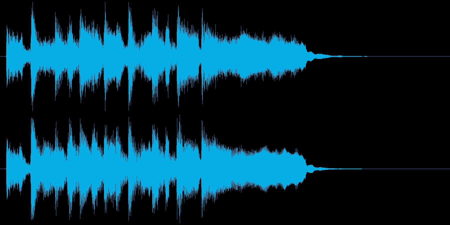 リコーダー&ブラスのステージクリアロゴの再生済みの波形